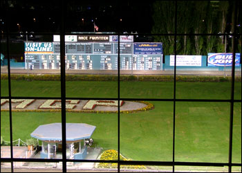 Portland's greyhound racetrack. Our friends, who are getting married next weekend, had a pre-wedding get together there.